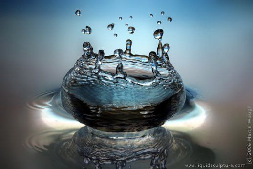 Escultura Agua Fotografia Alta Velocidade Martin Waugh Arte