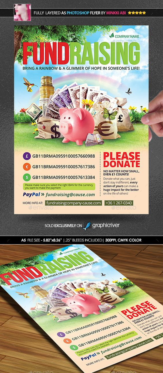 Flyers Poster And Fundraising On