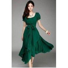 FWM Bohemian Style Puff Sleeve Maxi Dress