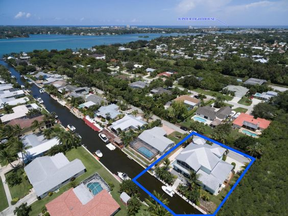 Waterfront property offered in the heart of Jupiter