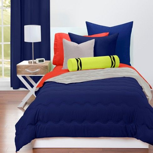 Crayola Deep Navy Comforter Sets Twin With Images Navy