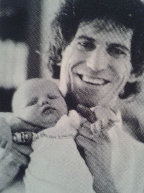 Keith with his daughter, Theodora
