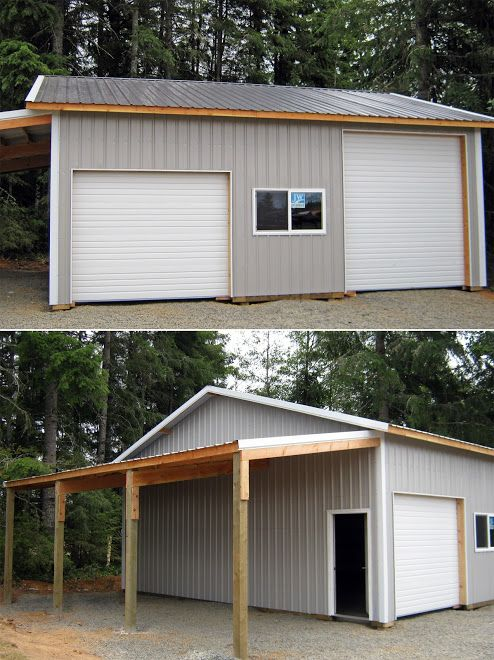 Photo 14 30 X 30 X 12 With 12 X 30 Roof Only Lean Too Walk In Door Oh Doors Overhang And 6 X3 Windows Pole Barn Garage Barn Garage Shed