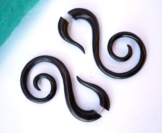 Fake gauge tribal earrings