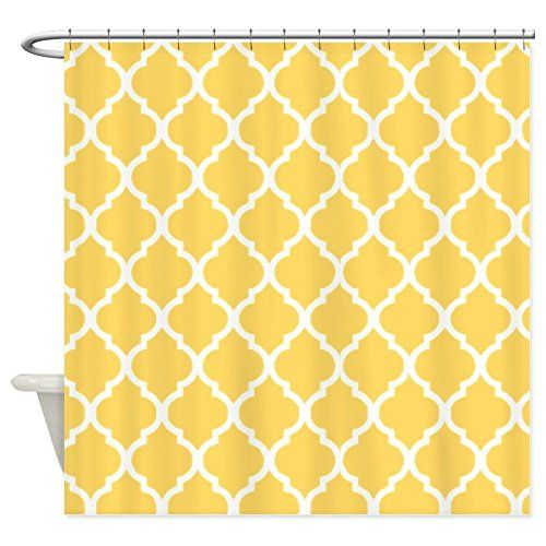Pin By Jessica Johnson On On My Own With Images Patterned Shower Curtain Fabric Shower Curtains Quatrefoil Pattern