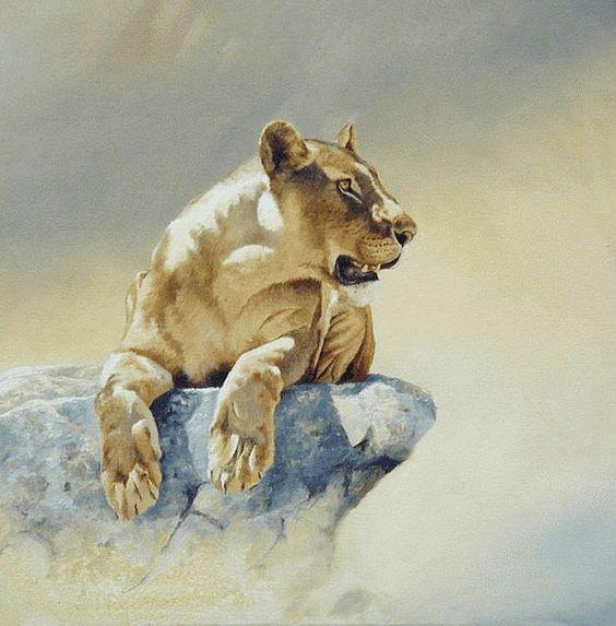 Watercolor lion -  Karen Laurence-Rowe