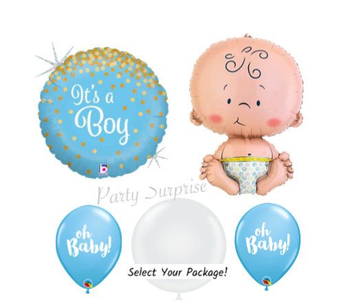 "Its A Boy New Baby Stork 18/"" Foil Balloon"