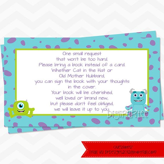 Monsters Inc Baby Shower Invitations Aniversrio Diogo Pinterest