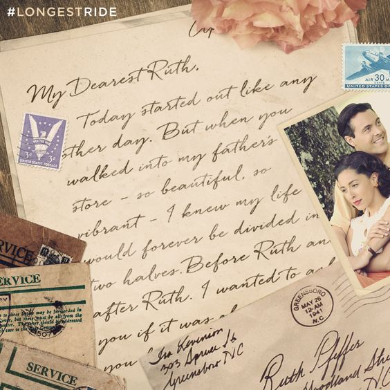 Ira knew he loved Ruth from the first moment he saw her. On April 10th, #LongestRide celebrates true love, and the sacrifices we make to keep it alive.