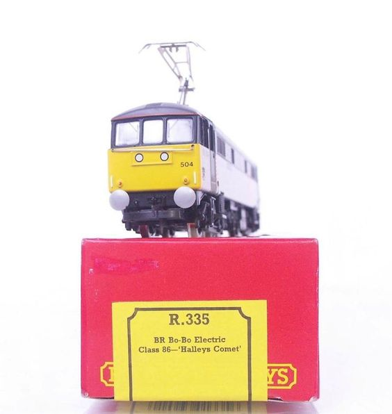 "#OOGAUGE #HORNBY R335 - BR IC RAILFREIGHT #CLASS86 ELECTRIC 86 504 ""Halley's Comet"""