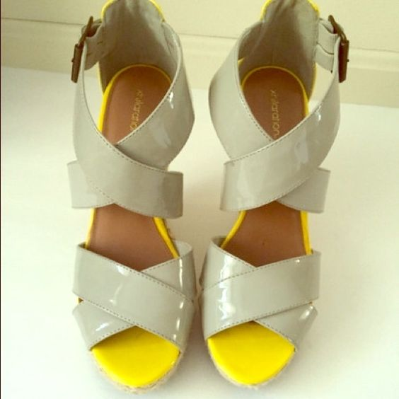 Espadrille Wedge Sandals Super cute perfect for spring worn once Xhilaration Shoes Wedges