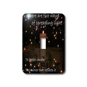 Inspirational Candle - Light Switch Covers - single toggle switch
