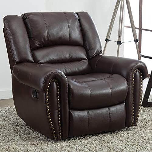 The Perfect Good Gracious Recliner Chair Faux Leather Oversized Reclining Sofa Heavy Duty And Overstuffed Arms And In 2020 Recliner Chair Reclining Sofa Brown Recliner