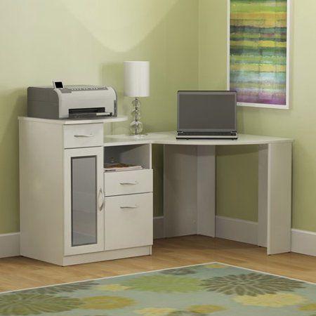 Bush Furniture Vantage Corner Desk In Pure White Walmart Com In 2020 Home Office Computer Desk Corner Desk White Corner Computer Desk