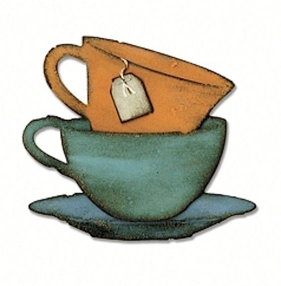 Tim Holtz Alterations Sizzix Bigz Die TEA TIME Cup Saucer 660234 New for 2015