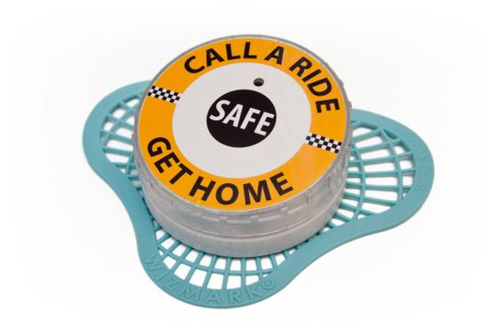 Talking urinal cakes in Michigan use a lady's voice to remind male drinkers to be safe.    (Yes, you read that right...)
