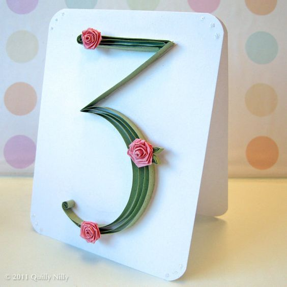 I Could Totally Make This: Paper Quilled Wedding Table Numbers...yeah I Could Totally