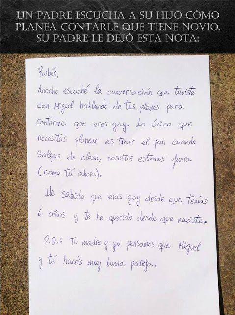 LA CARTA MÁS HERMOSA DE UN PADRE A SU HIJO GAY ~ EL CLUB DE LOS LIBROS PERDIDOS