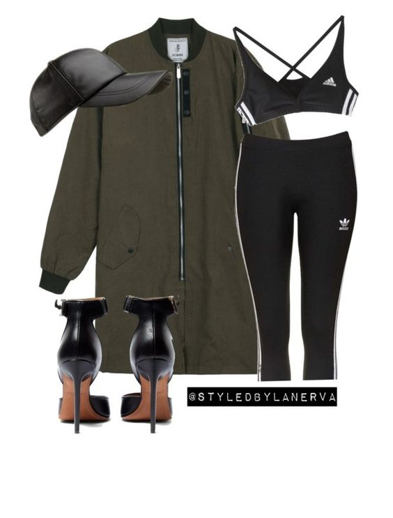 """Untitled #398"" by amanda-lanerva ❤ liked on Polyvore featuring adidas, Topshop and Givenchy"