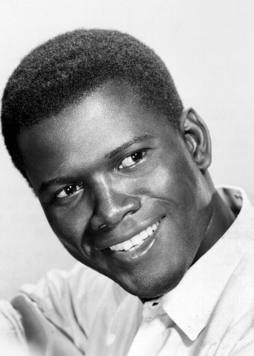 SIDNEY POITIER - Born: Sidney Tamiia Poitier, February 20, 1927, Miami, Florida. Poitier grew up in poverty as the son of a dirt farmer. He had little formal education & did menial jobs and slept in a bus terminal toilet in New York to join the American Negro Theatre. He progressed to one of the most respected figures in American cinema. Poitier's talent and integrity did much to break down racial barriers & in 1974, he was awarded Knight Commander of the Order of the British Empire .: