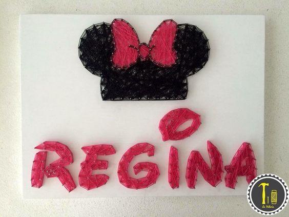 Cuadro personalizado nombre con minnie mouse #minnie #mimi #mouse ...