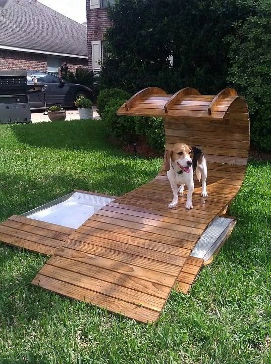 cool dog house credit Amy Mei For Patio/Garden