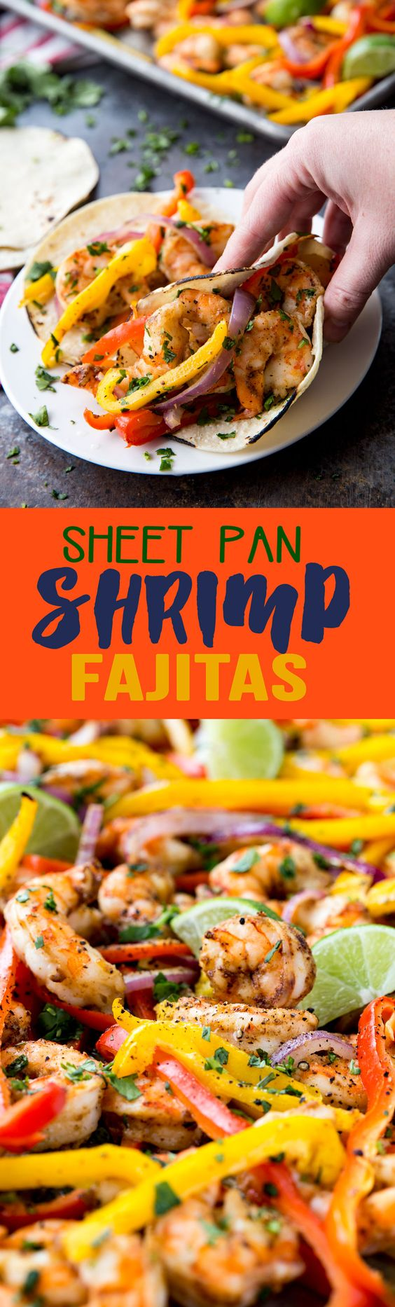 Sheet Pan Shrimp Fajitas: