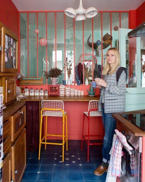 Madeleine Paris 18eme Inside Closet Decoration Cuisine Style Boheme Et Colore Decoration Cuisine Cuisine Boheme Decoration Interieure Cuisine