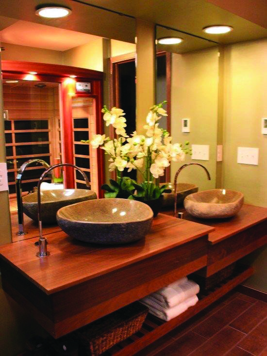 Inspirational Japanese Bathroom Wall That Will Impress You Japanese Bathroom Design Japanese Bathroom Asian Home Decor Japanese style bathroom wood slabs