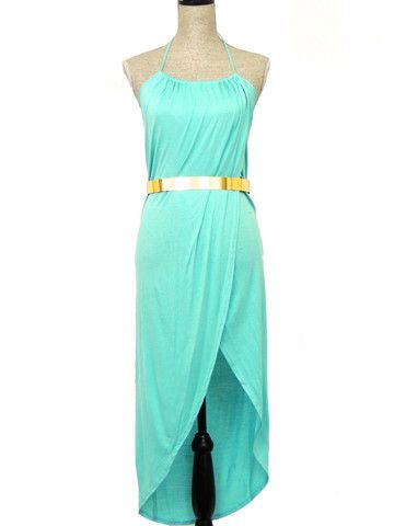 GREATEST SALE EVER..50% OFF> SALE ENDS MIDNIGHT1 Bare My Soul Belted Wrap Dress - Mint
