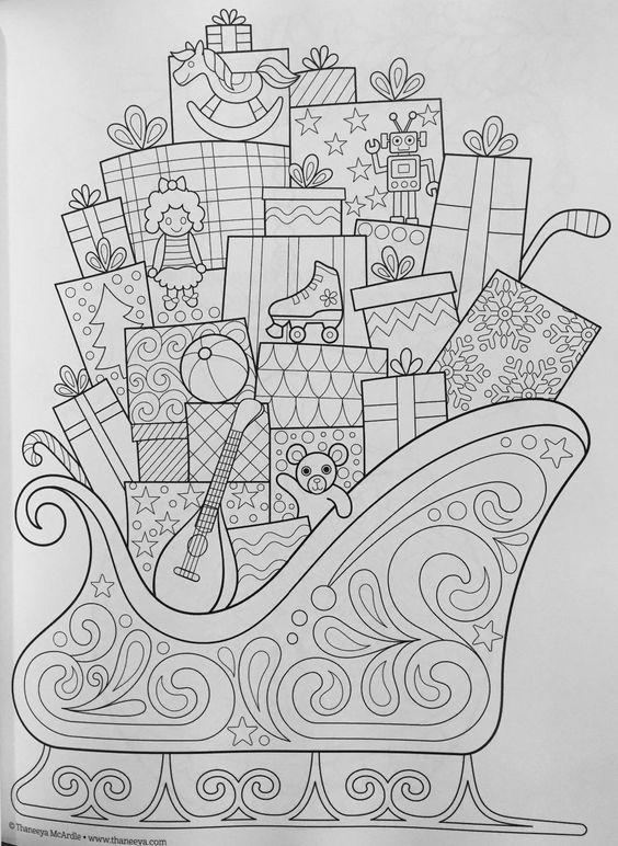 Christmas Coloring Book Coloring Is Fun Thaneeya