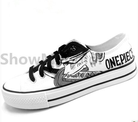 Black Hand Painted One Piece Converse