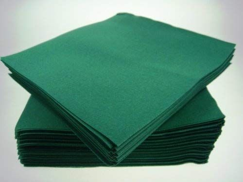 Pack Of 50 Luxury Green Airlaid Napkins Linen Feel Linen Feel Napkins Linen Napkins