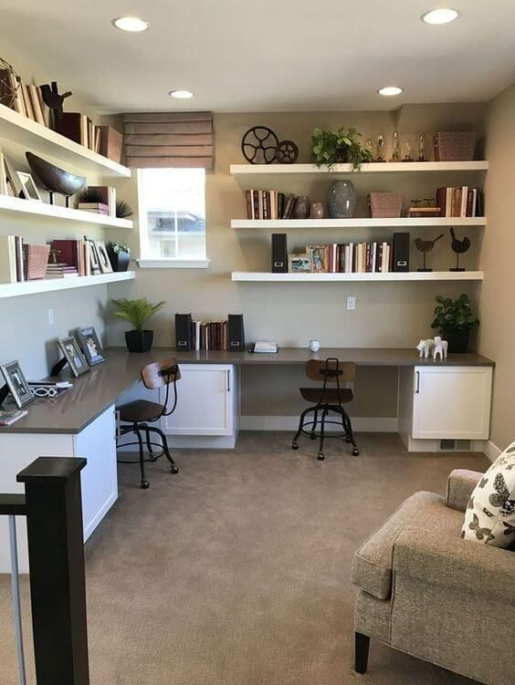 31 Creative Home Office Ideas That Ll Inspire You Sharp Aspirant In 2020 Small Home Office Home Office Design Home Office Decor