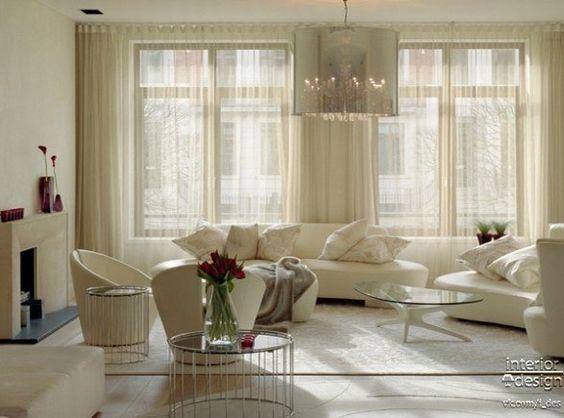 Light, white living room