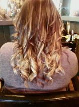 ombre i did on @Megan Buhl today!! her hair was all dark when we started!!