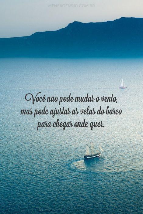 Você não pode mudar o vento, mas pode ajustar as velas do barco para chegar onde quer. (Confúcio)