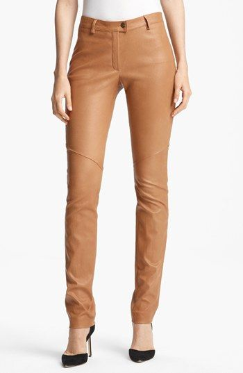 Tan Leather Pants @Nordstrom | wear | Pinterest | Colors, Leather ...