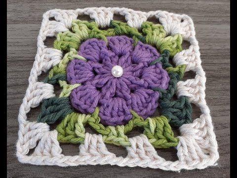 Square De Croche Youtube Flor De Croche Simples Quadrados De Croche Bicos De Croche Simples
