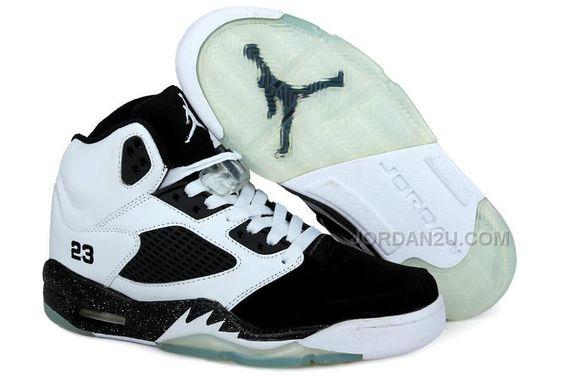 84ab23509f1 Nike Air Jordan 5 Black Pink Womens Basketball Shoes