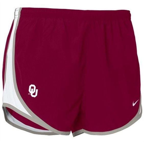 Nike Oklahoma Sooners Crimson Ladies Tempo Shorts ❤ liked on Polyvore