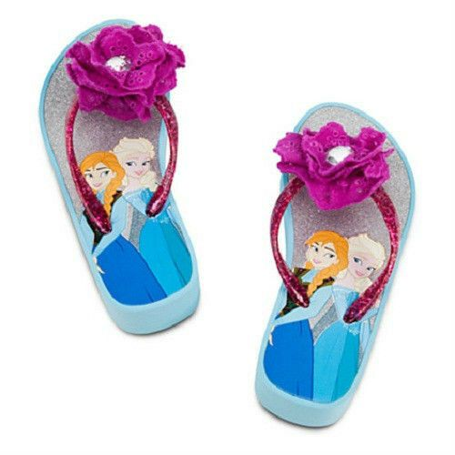 Disney Store Frozen Wedge flip flops Sandal for kids Size 7//8