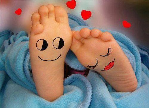 Flirting feet..