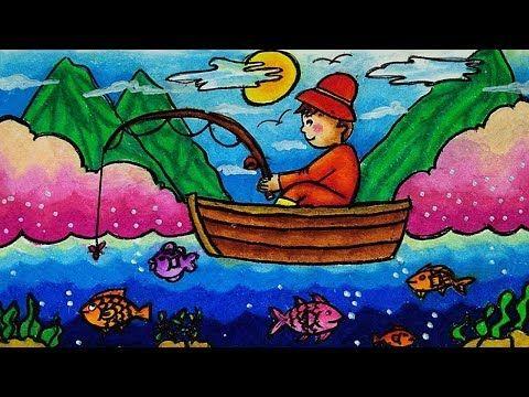 Cara Menggambar dan Mewarnai Tema Pemandangan Laut - Nelayan ...
