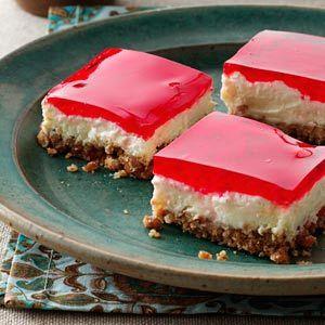 Pretzel Jello Dessert Recipe from Taste of Home -- shared by Erin Frakes of Moline, Illinois