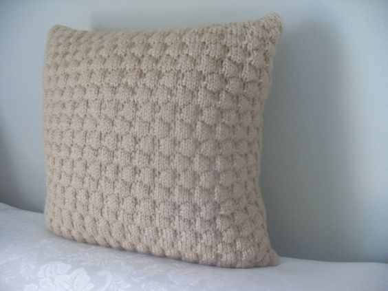 hand knit 16x16u201c throw pillow insert included by katy s hand knit 16x16u201c throw pillow insert included by katy s