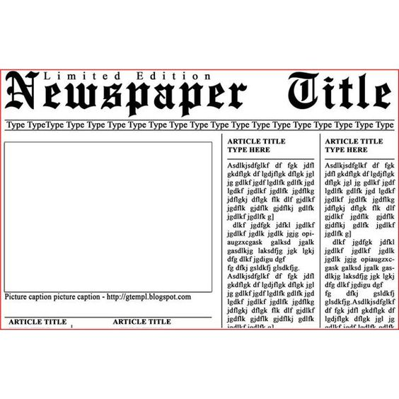 Newspaper Template for Photoshop #photoshop #templates #free ...