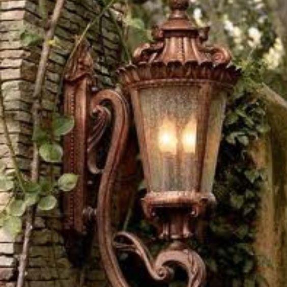 Tuscan Style lighting I love it!   My home/My sanctuary ...