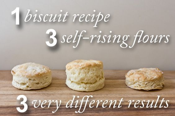 The White Lily self-rising flour (the biscuit in the middle) far outperformed the store brand self-rising flour and the self-rising substitute.