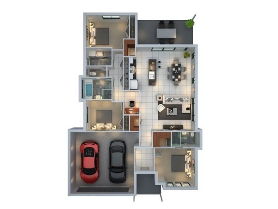 3D floor plan unit4 for a building company - Mudgee NSW
